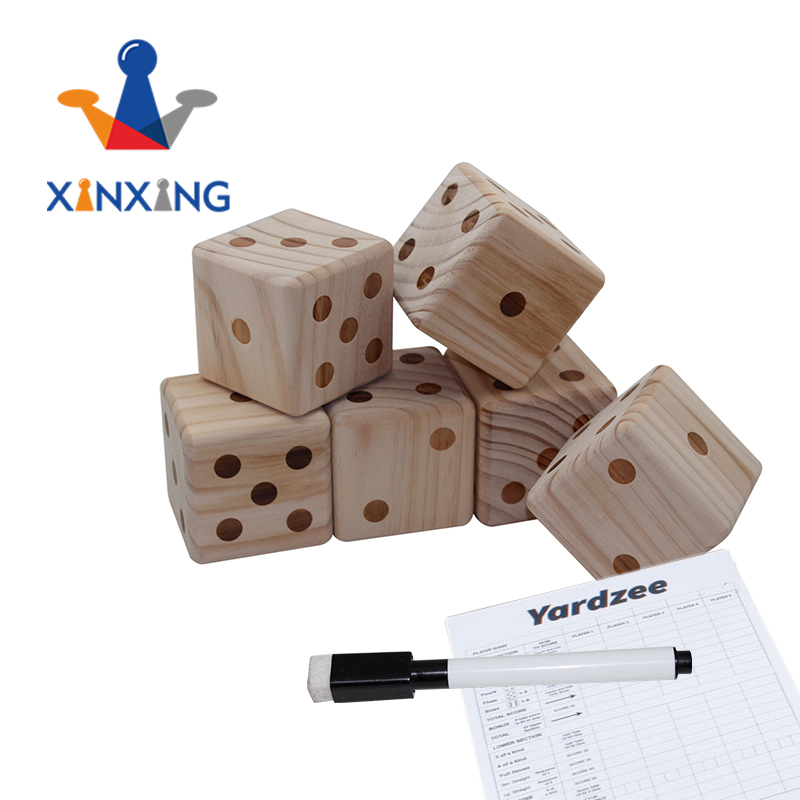 Garden yard dice, giant dice ,pine wood 6 dices set