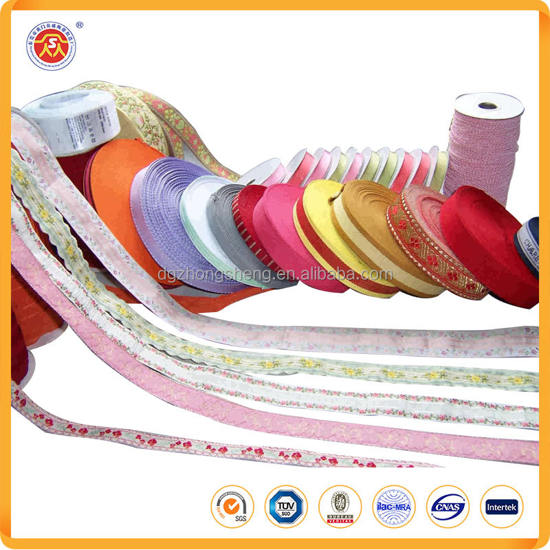 Factory direct sale various custom jacquard embroidered ribbon of high quality for sale
