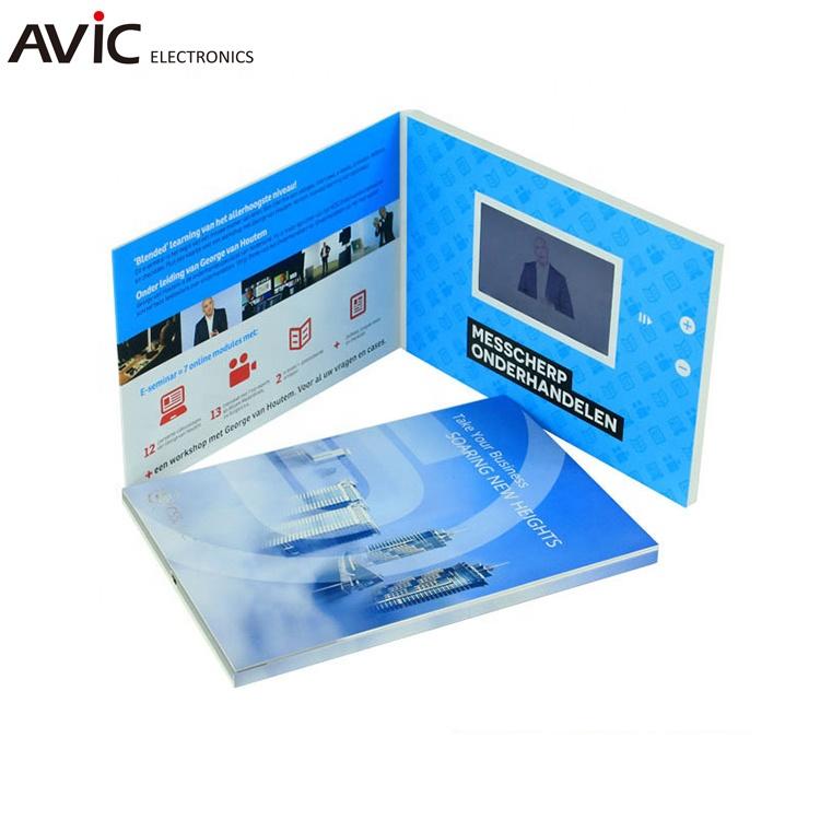디스플레이 인사말 프로모션 사용 비디오 브로셔 카드 웨딩 선물