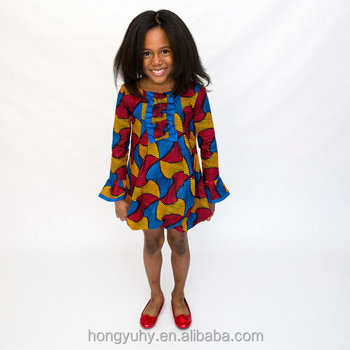 f6a4ed98479ef 2016 100% Cotton Girl Baby Wax African Print Autumn Children Dress Cute  Baby Girl Dress 0-12 Year Free Shipping Ez1807 - Buy African Lovely  Children ...