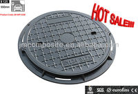 EN124 B125 Round sanitary sewer manhole cover/JM-MR103B 600mm Plastic Sewer Cover