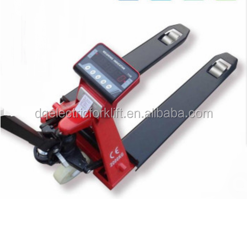 hand pallet truck with weight scale instrument