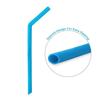 Reusable Silicone Drinking Straws with Cleaning Brushes