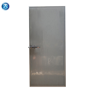 Insulated fireproof stainless steel electronic sliding cold room door for clean room