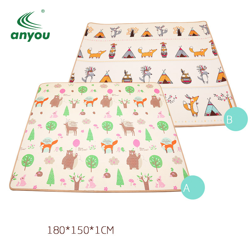 waterproof prints kids play mat safety non-toxic baby play mat