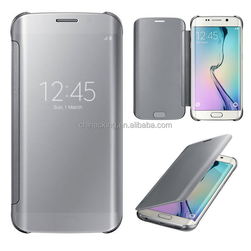 premium selection a55c4 d3f2f Mirror Clear View Cover Flip Hard Case For Samsung Galaxy S6 Edge - Buy  Mirror Clear View Cover Flip Hard Case Product on Alibaba.com
