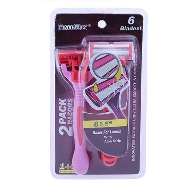 Bulk wholesale portable women adjustable safety razor with lubricating strip super smooth