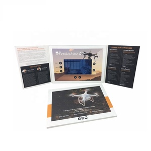 Best Selling Products 7inch Video Greeting Cards Brochure For Business Advertisement