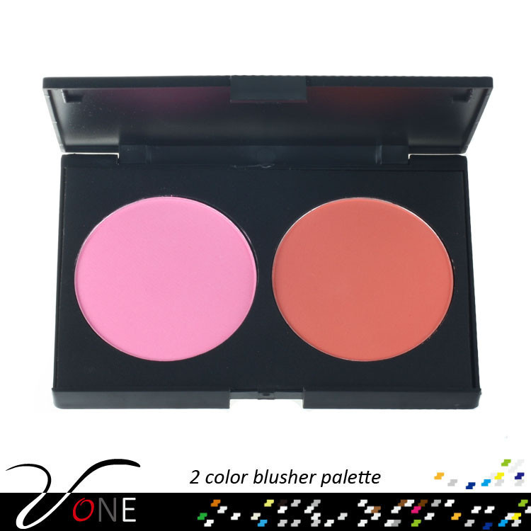 Professional face makeup blusher,wonderful cheek makeup blush palette 2 color
