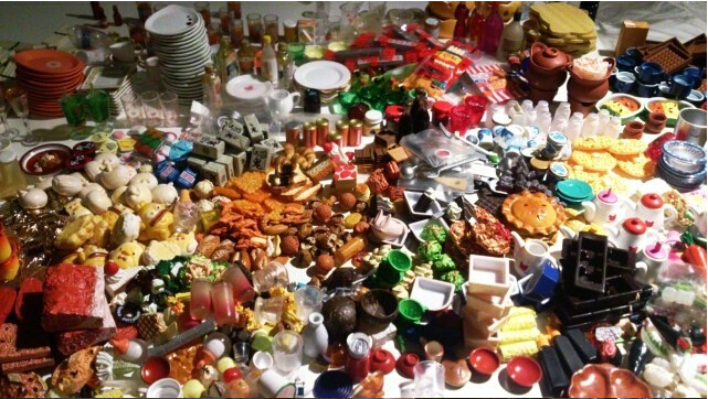 Free Shipping 50pcs Food Miniature Dollhouse Meal Drink Re ment Size 1 12 Toy Figure Dolls