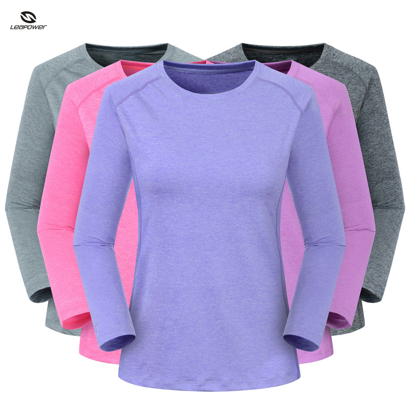 Compression Organic Woman's Running T Shirt Crewneck T Shirt Dry Fit