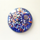 colorful round gold dust murano glass pendant for brooch