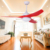 52 inches American style ceiling fan with LED light and 3 pieces reversible plastic blades,remote control