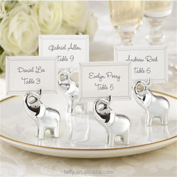 2017 New Wholesale Elegant Bridal Shower Wedding Party Table Decorations Supplies Lucky Elephant Place Card Table Number Holder Buy Wedding Favor