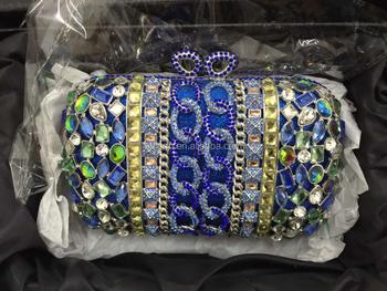 Las Designer Handbags Clutch Wedding Evening Hand Bag Beaded Stone Purse