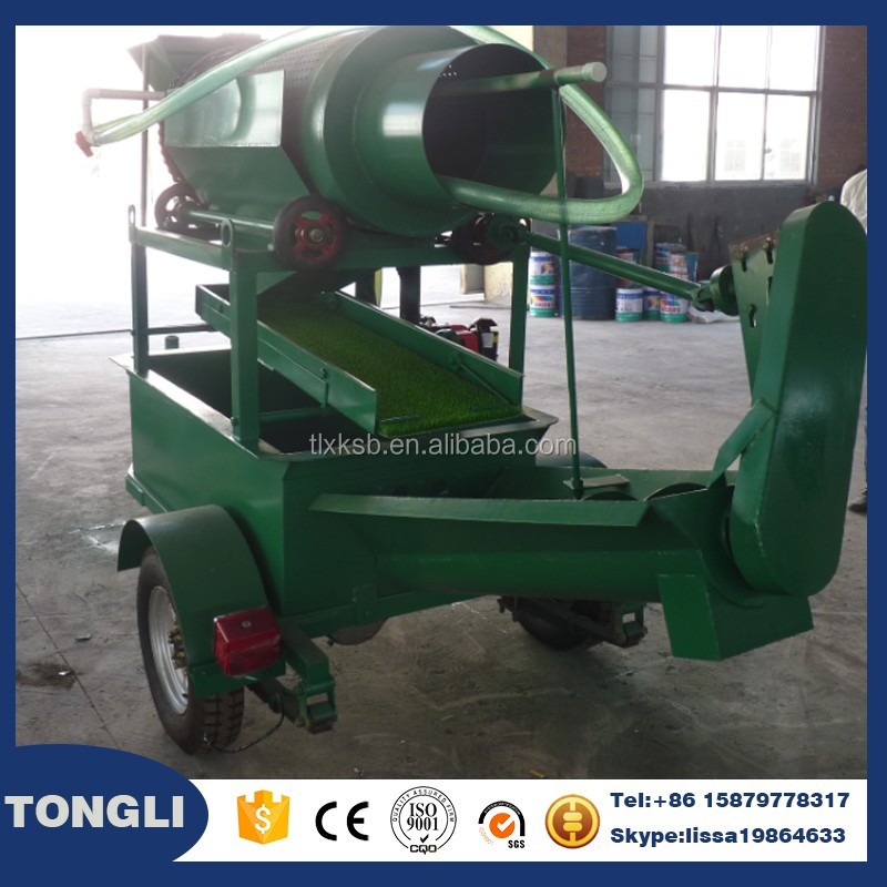 Small capacity gold washing scrubber mobile crushing and screening plant