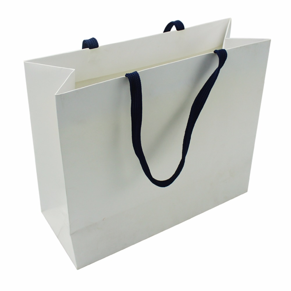 2018 Hot Gift Bags White Small With Handles Custom Paper In China Fancy