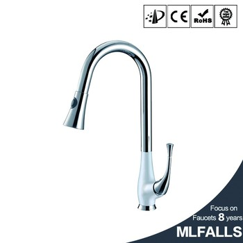 Mlfalls Brass Single Hole Retractable Kitchen Faucet Extension Hose