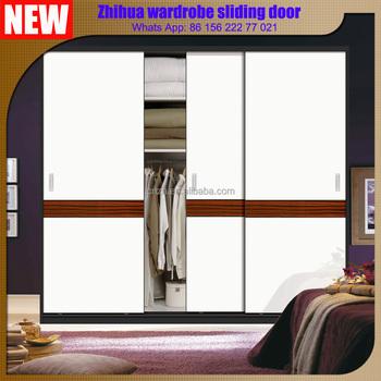 Bedroom Wardrobe Closet Aluminum Frame Mirror Sliding Door Designs