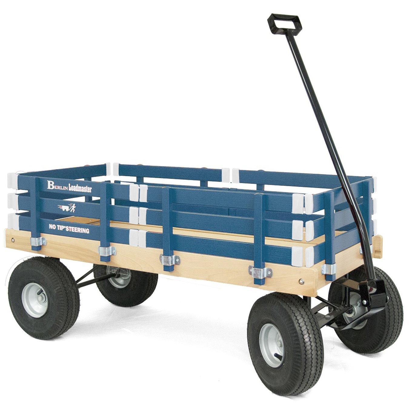 Berlin F600 Amish-Made All-Terrain Tires Loadmaster Ride-On Wagon, Navy