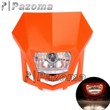 Hot Selling Pazoma 12v 35/35w H4 Dirt Bike Orange Motorcycle Headlight For KTM