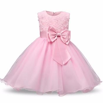 Princess Flower Girl Dress Summer 2017 Tutu Wedding Birthday Party Dresses  For Girls Children s Costume Teenager 7ae17e01829d