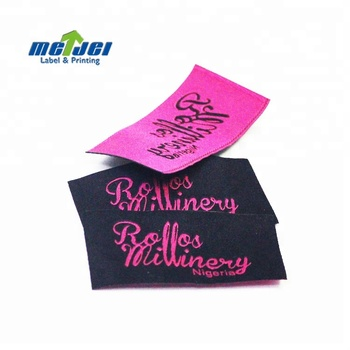 Wholesale Custom Famous Brand Name Logo Woven Damask Clothes Labels for Clothing
