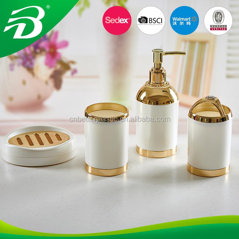 Accesorios de ba o de oro de cobre de la moda de pl stico for Accesorios bano plastico
