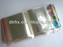 Clear Self-Adhesive Seal Plastic Bags With Hanging Header
