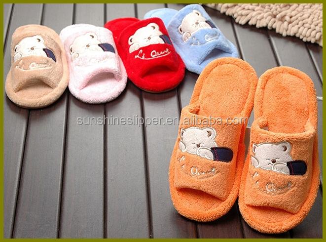 Kids Open Toe Children Indoor Slippers