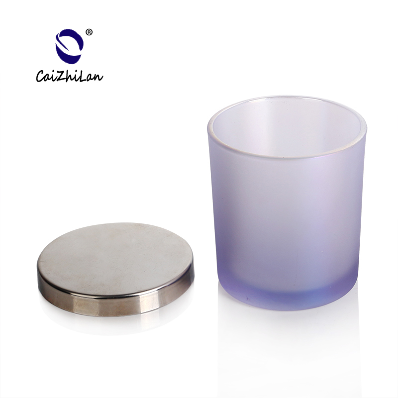 Borosilicate Material Candle Jars Wholesale Frosted,Frosted Glass Candle Jar With Lid,Painted Glass Candle Jars