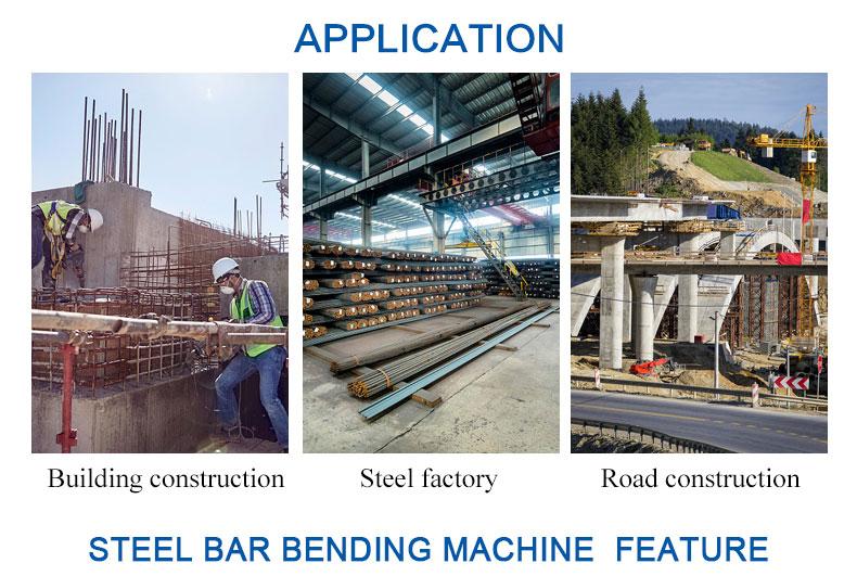 4KW 400mm inşaat demiri kesici bender GW50 iyi fiyat otomatik evrensel bender manuel inşaat demiri bendeing makinesi