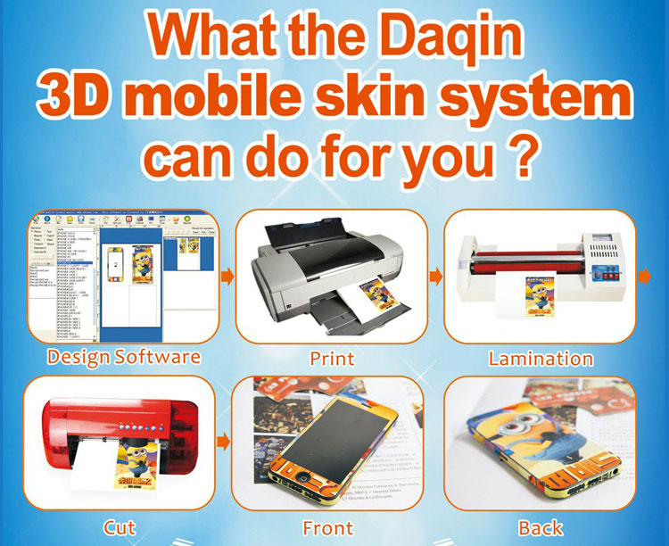 Phone case printer 3d for printing mobile skin by your own photo