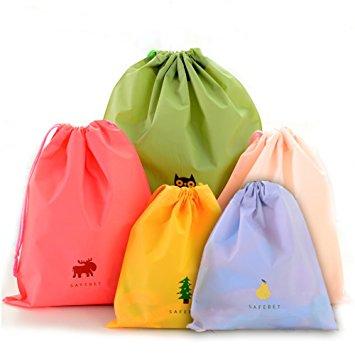 Promotional Reusable Plastic Drawstring Bags Whole
