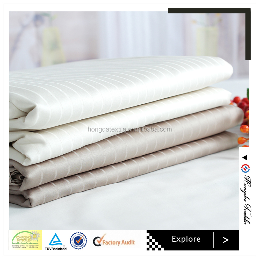 Good hand feeling quilt cover and bed sheet hotel bedding set fabric