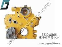 engine spare part E320 oil pump,diesel oil pump E320