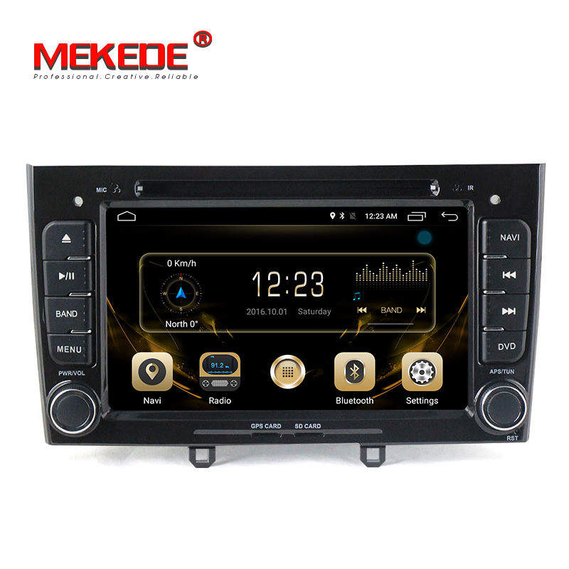 Mekede Fabbrica 7 ''2din 4G LTE Android gps per auto radio lettore dvd per Peugeot 308 408 2009-2014 auto audio stereo multimedia player