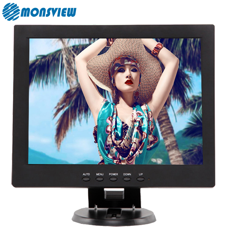 High resolution LED backlight 12 inch square screen lcd PC monitor