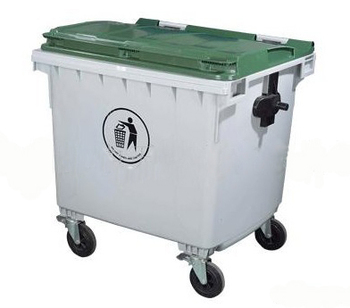 660l Metal Storage Bins With Wheels Plastic Transparent
