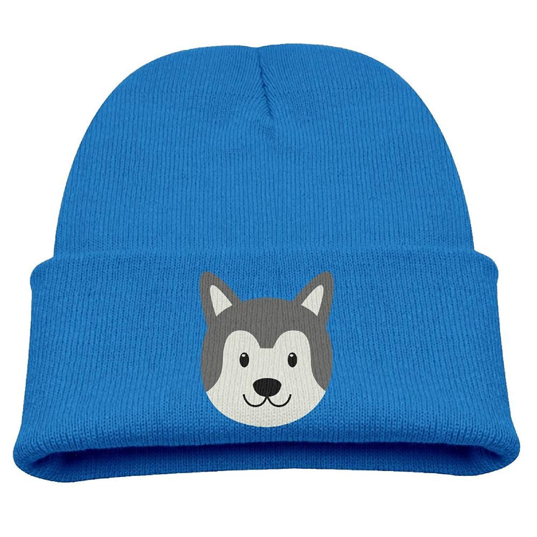 6cbfdbacdc1 Get Quotations · Siberian Husky Pattern Kid s Hats Winter Funny Soft Knit  Beanie Cap