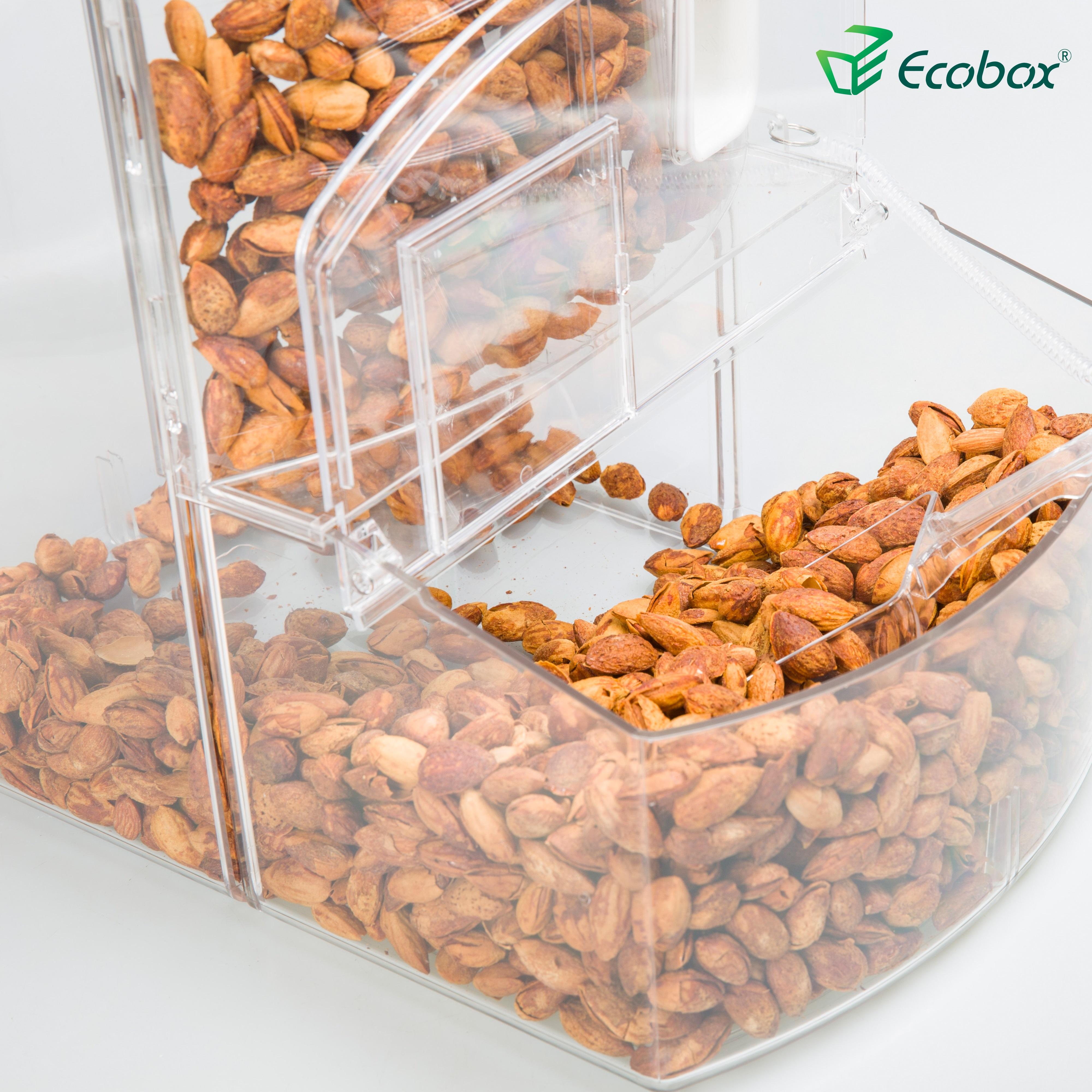 Supermercato e negozio di vendita al dettaglio del commercio all'ingrosso bulk cibo caramelle bin noci display bidoni
