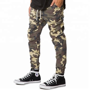 Custom Print Pattern Spring Slim Fit Adult Mens Camo Stretch Twill Casual Jogger Pants OEM