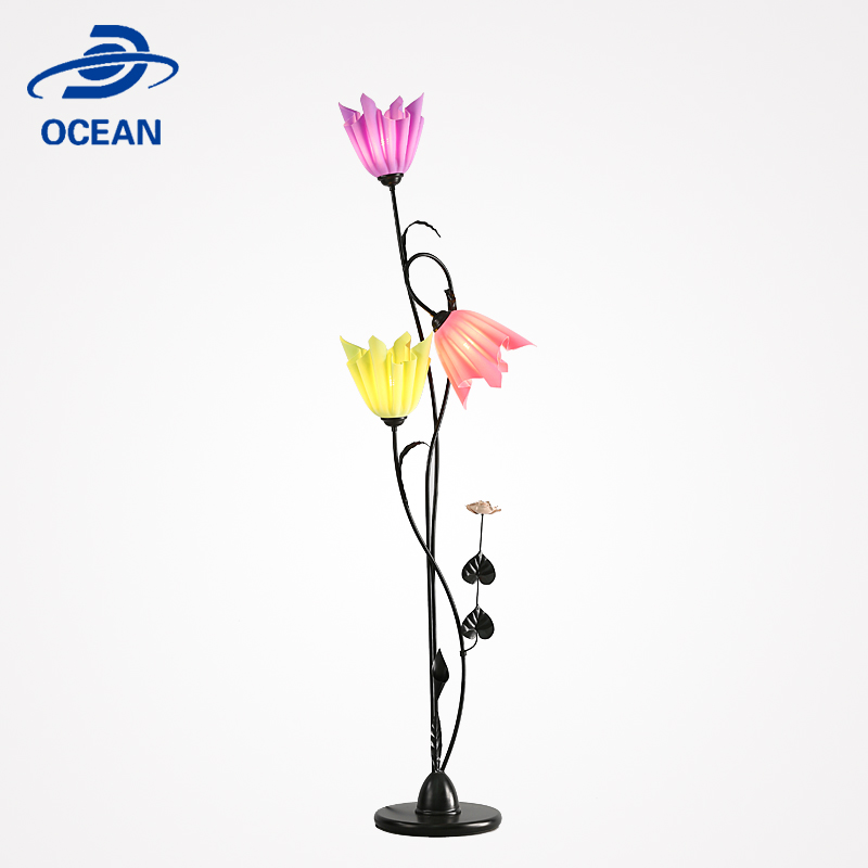Home wrought iron stand floor lamp accessories for decorative