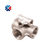 stainless steel threaded pipe fittings ss304 stainless steel tee ss pipe fittings tee bspt female tee for water and gas