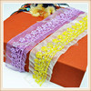 beaded lace trim for wedding dress with colorful beads mesh