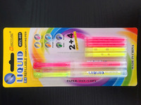 customize plastic high quality multi color large capacity highlighter pen