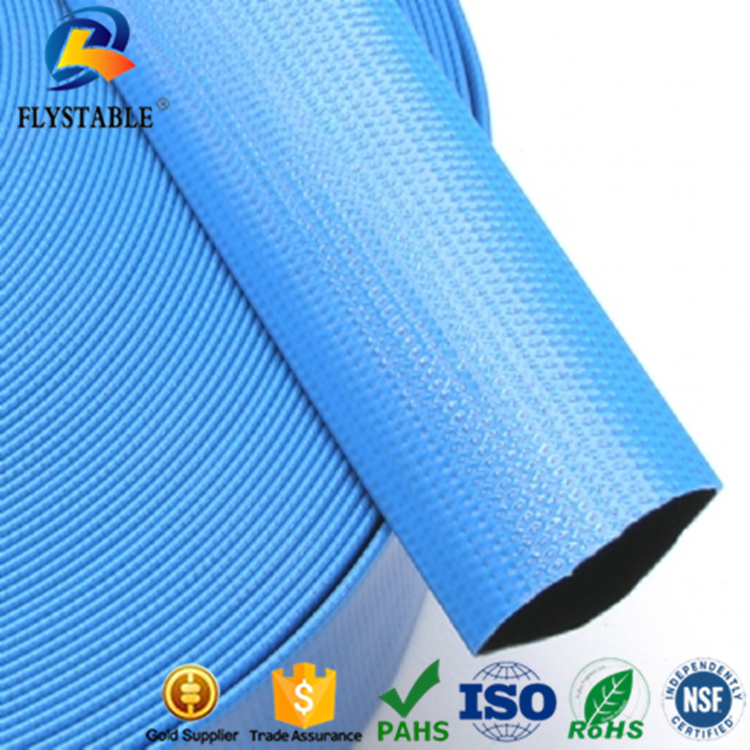 33Ft 10 Metres Layflat Water Delivery Hose Discharge Pipe Pump Irrigation Blue