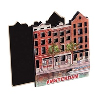Holland Amsterdam Souvenir 3d Custom Wood Fridge Magnet