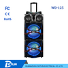 Daul 15 inch trolley speaker with wireless bluetooth speaker sound system