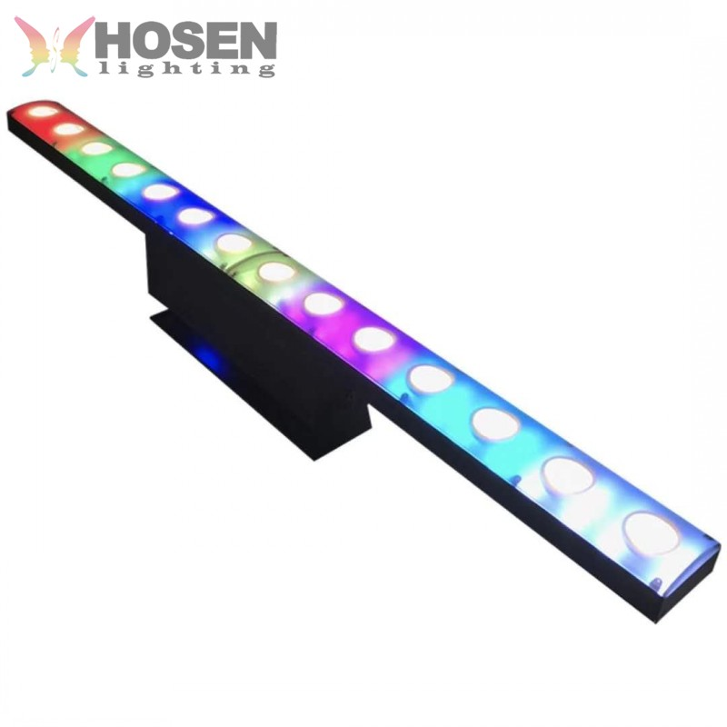 2018 nuevo lente de 14x5 W + 84X0,5 W RGBW 4in1 píxeles control led arandela de pared led bar